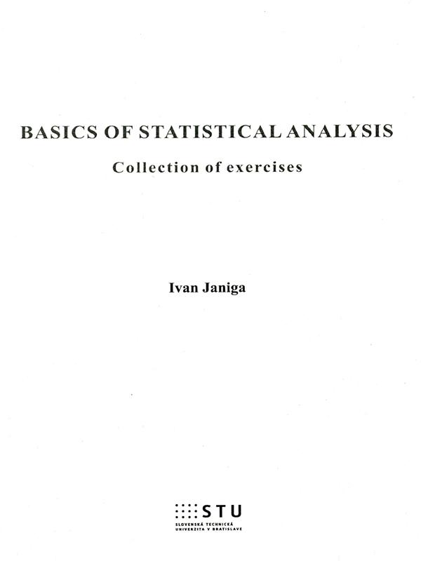 Basics of Statistical Analysis