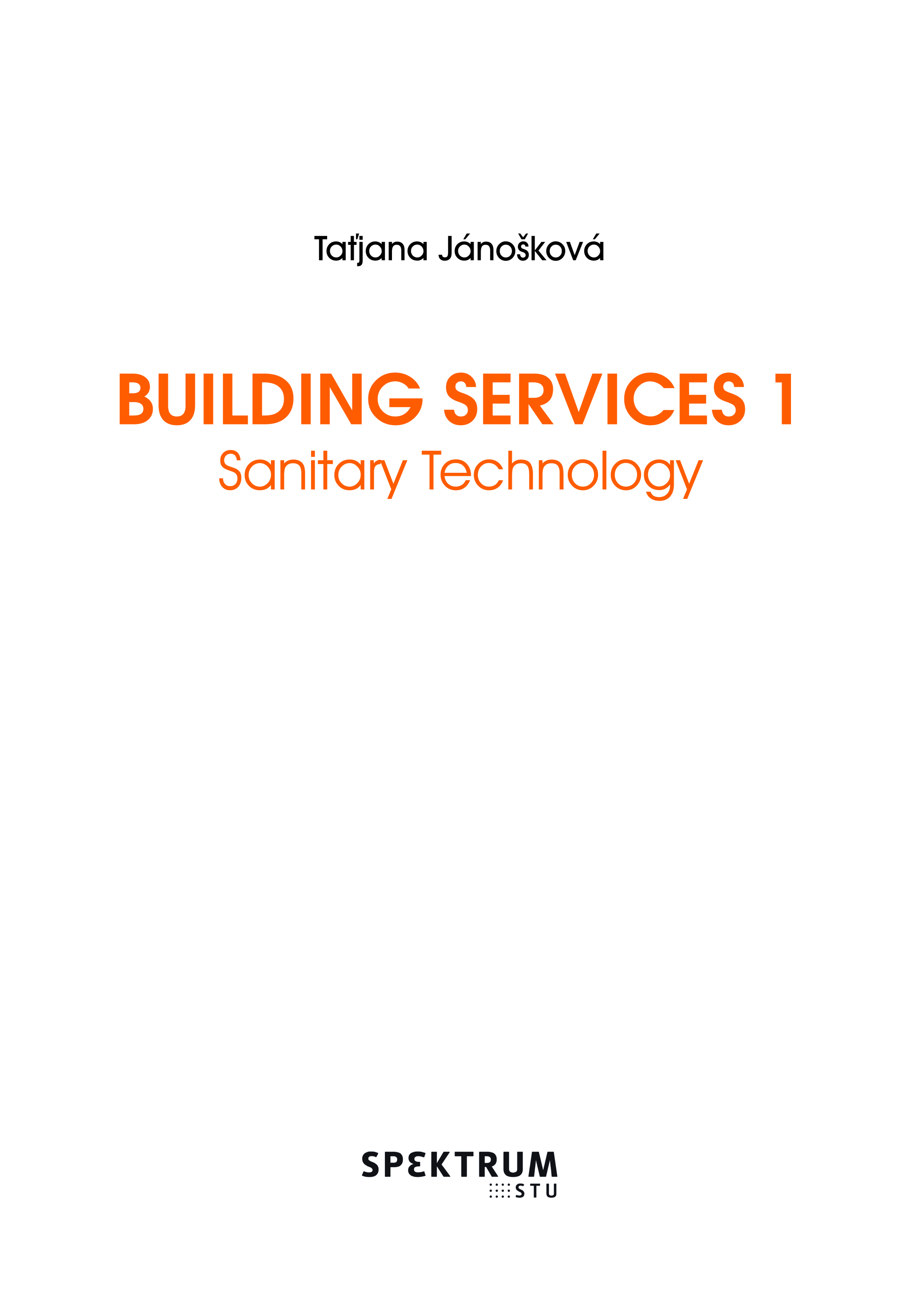 Building Services 1, Sanitary Technology