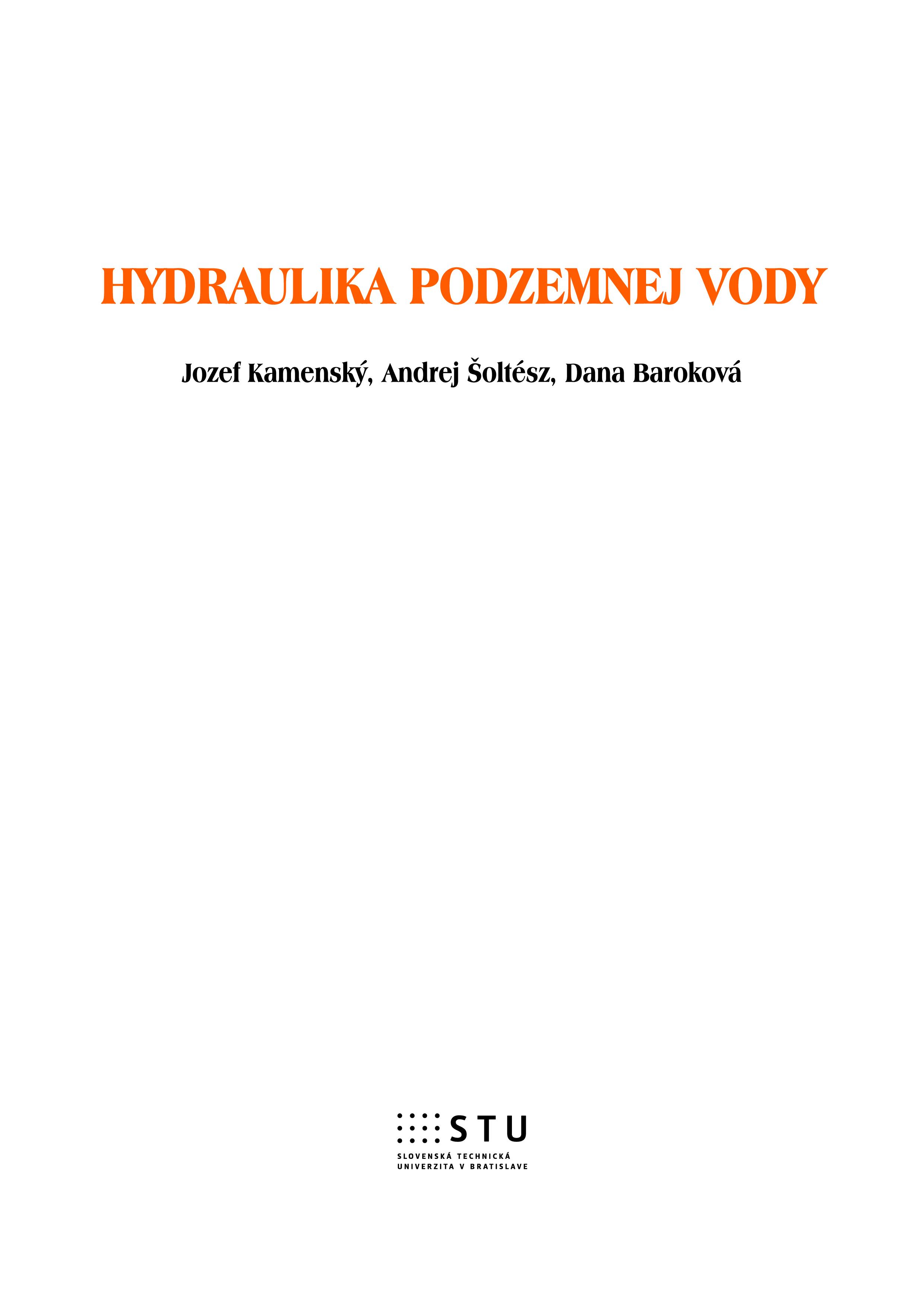 Hydraulika podzemnej vody