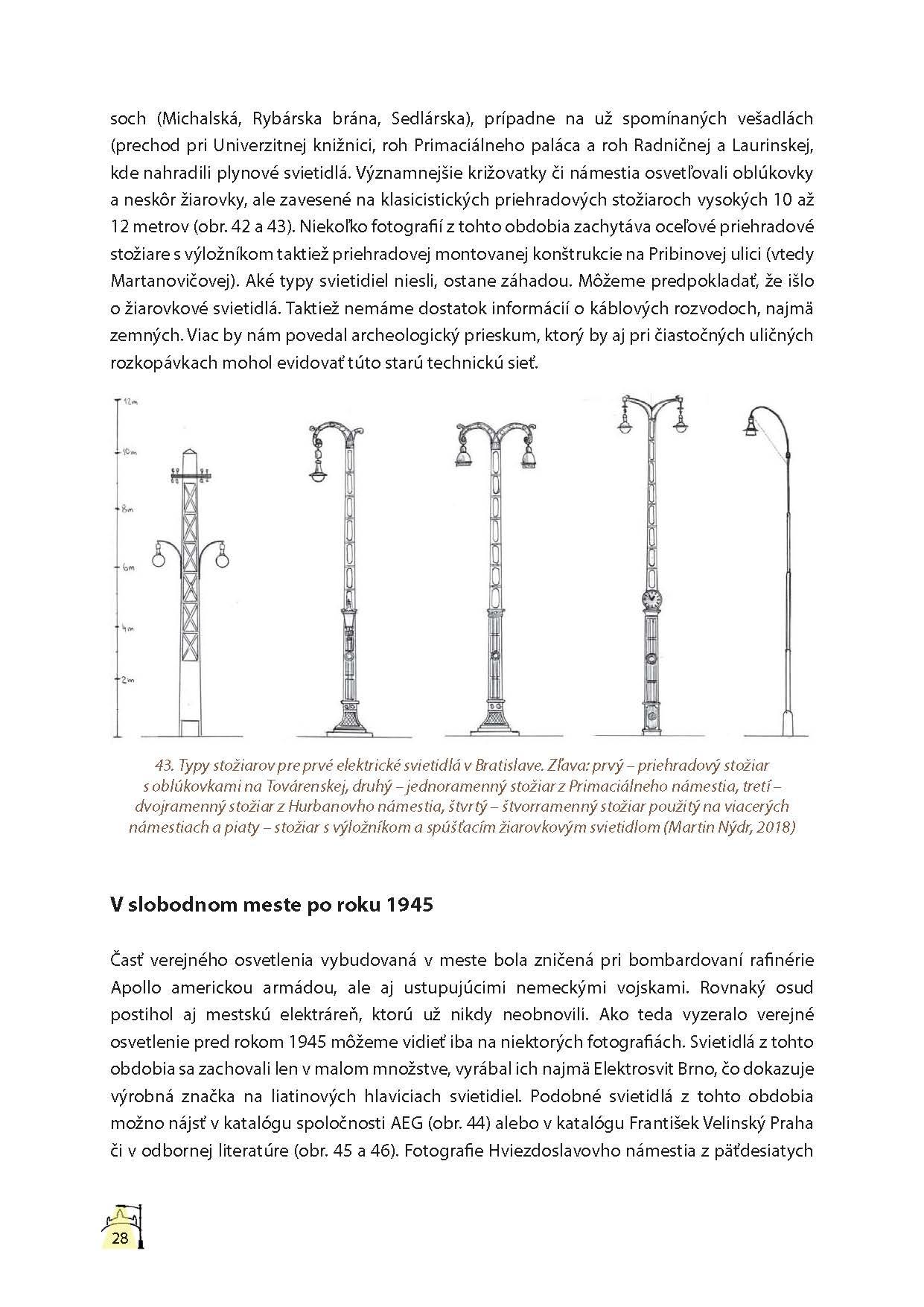 Lampy verejného osvetlenia v Bratislave 4