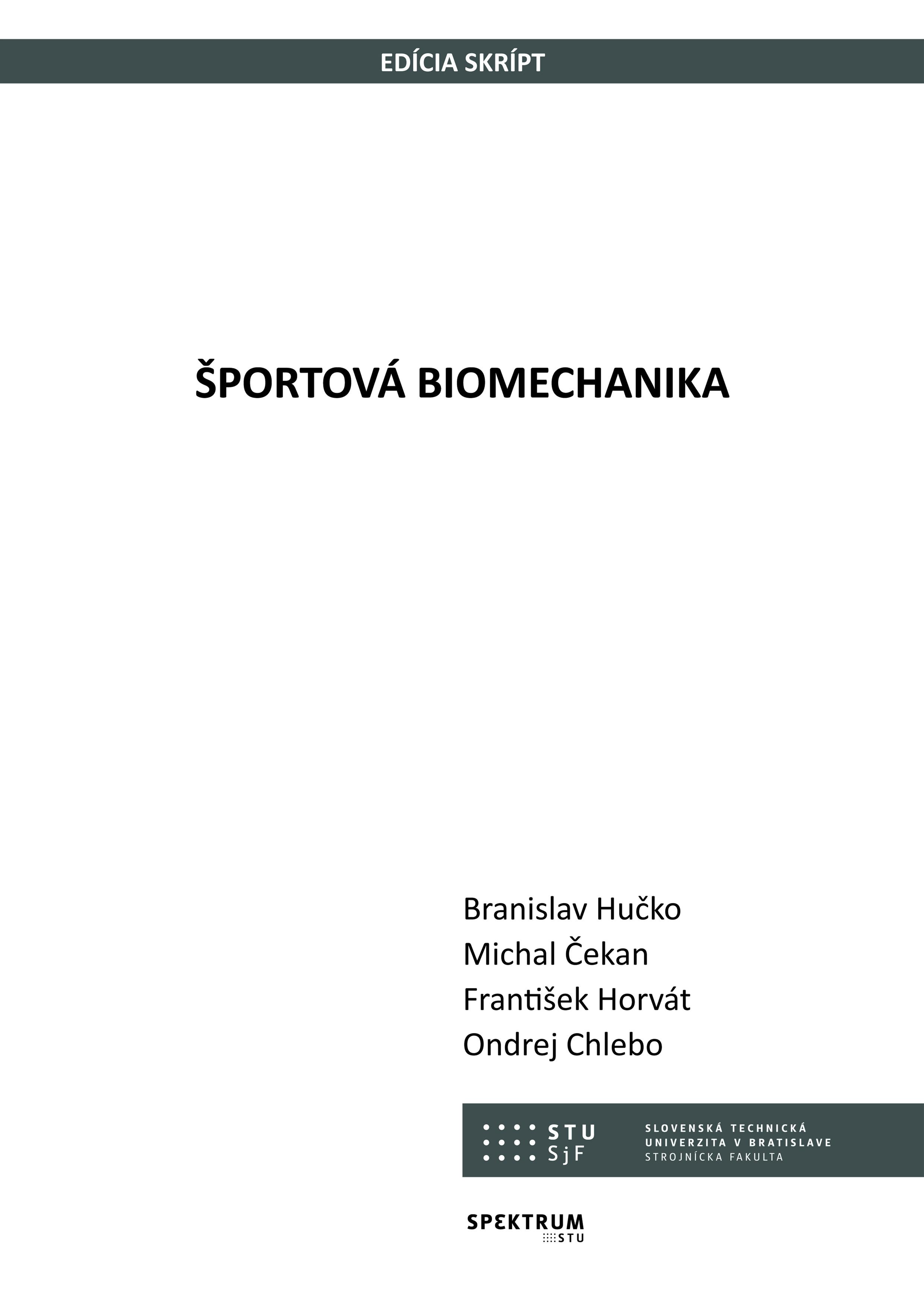 Športová biomechanika 1