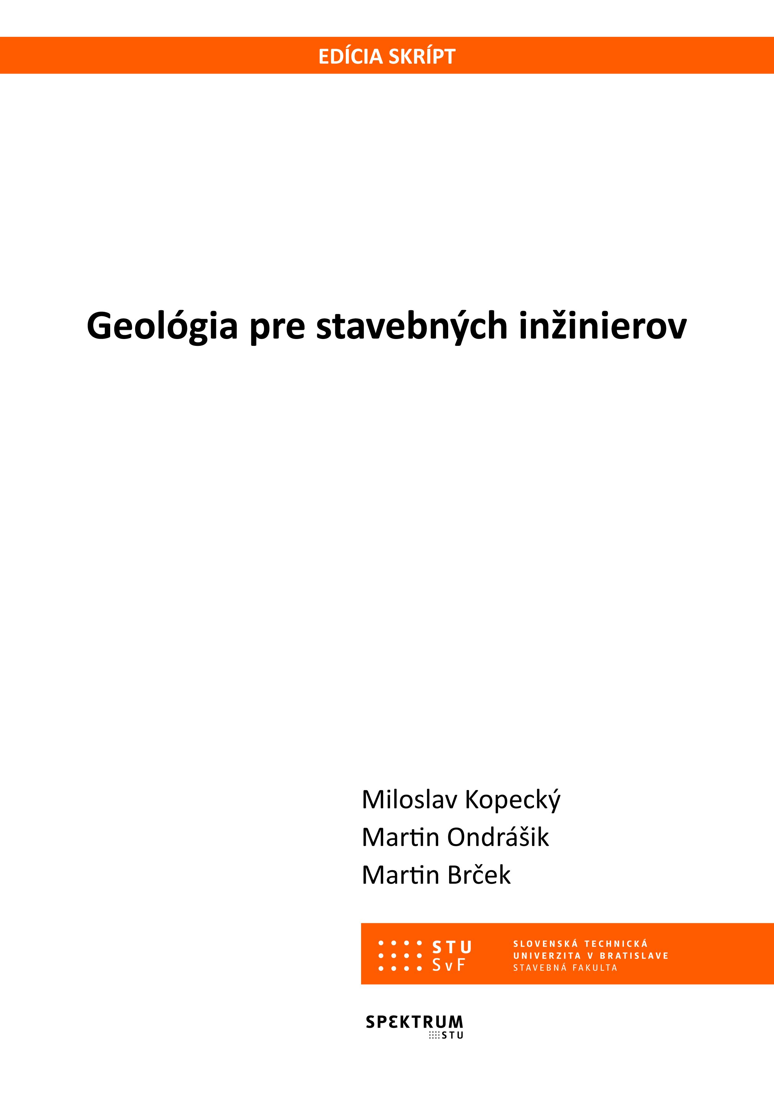 Geológia pre stavebných inžinierov