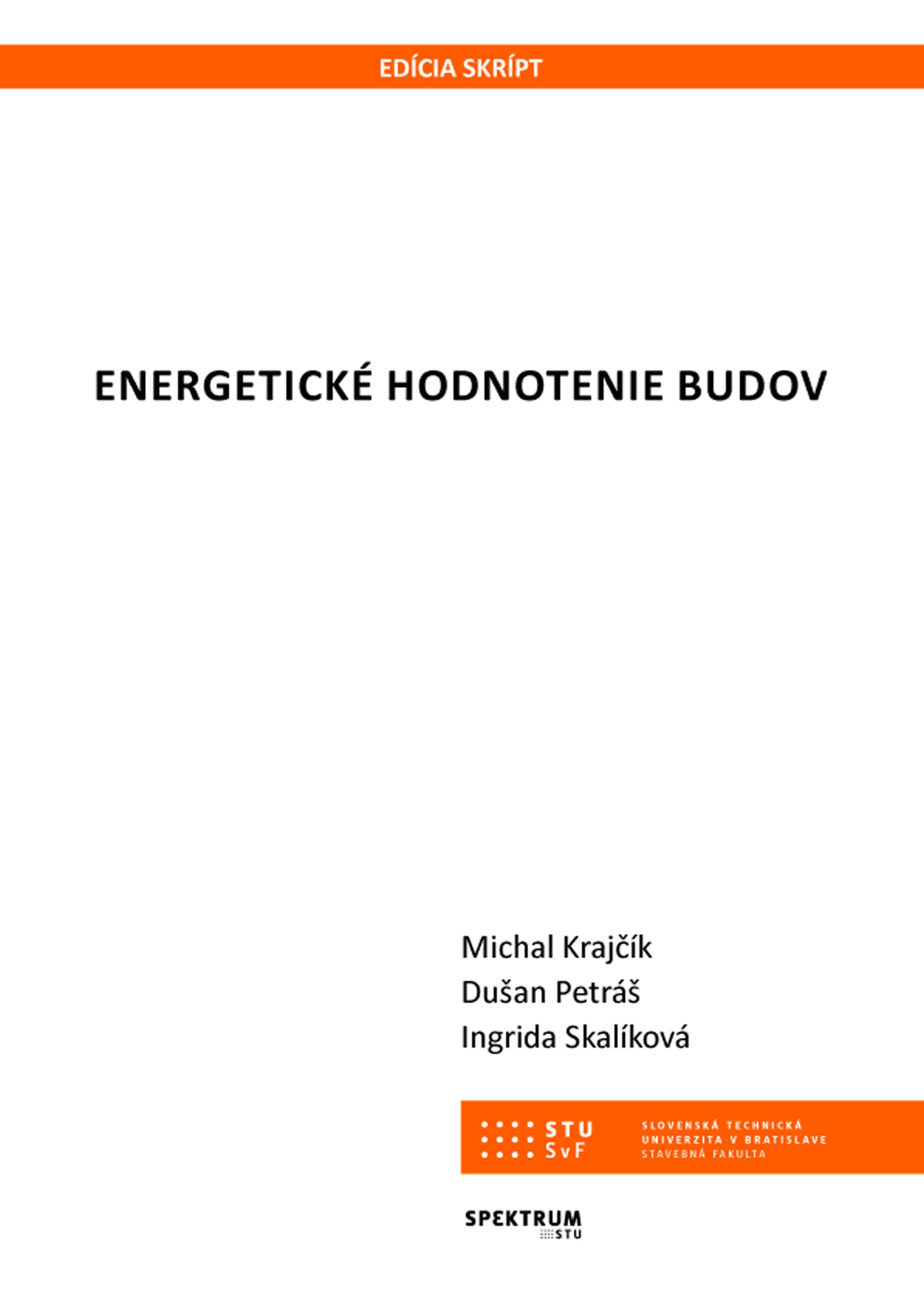 Energetické hodnotenie budov 1