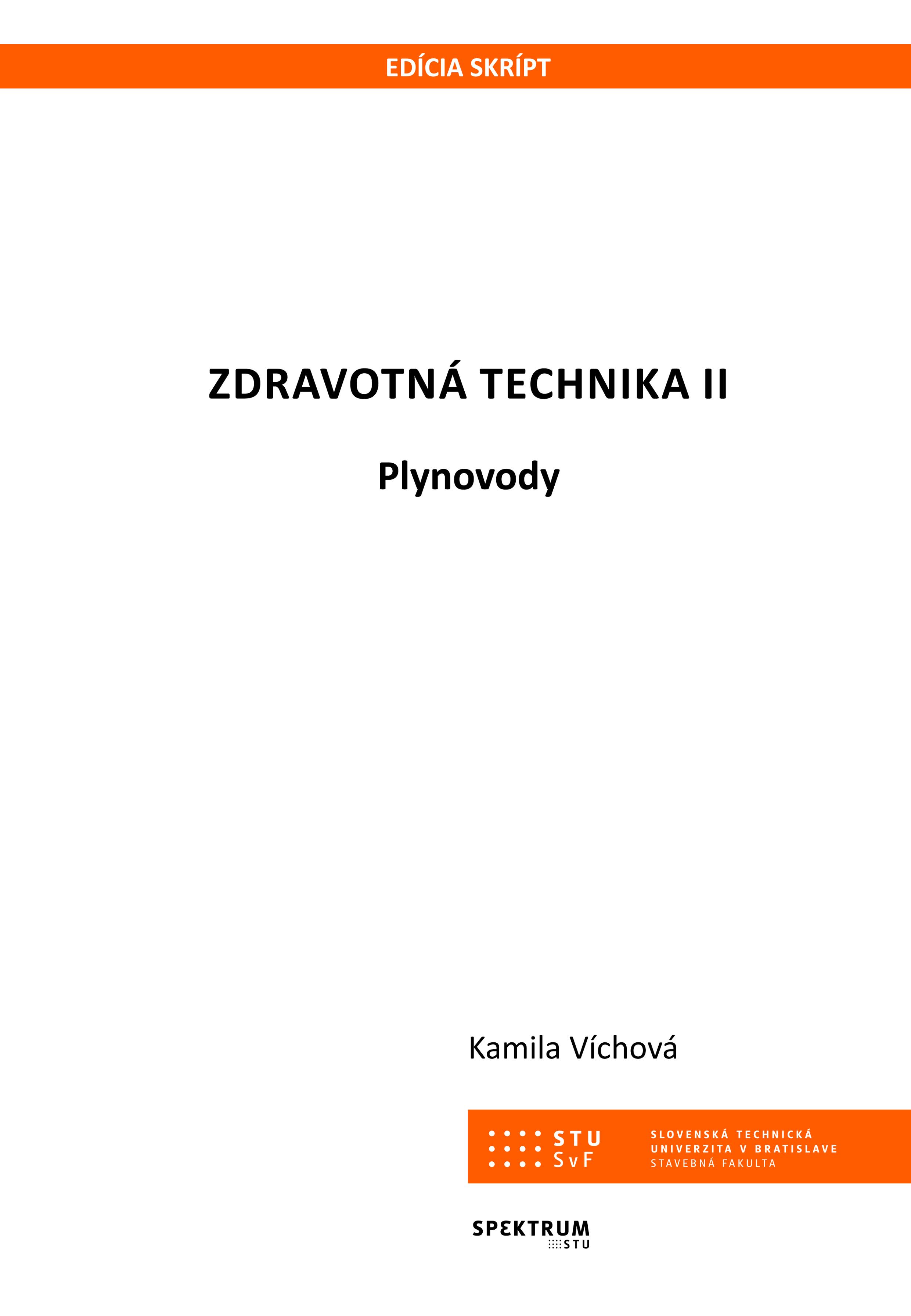 Zdravotná technika II. Plynovody 1