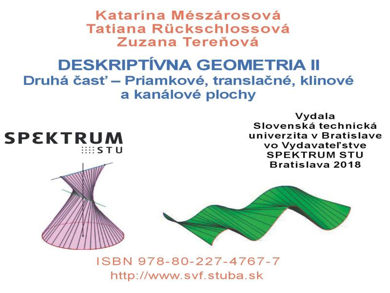 Deskriptívna geometria II Prvá časť - Rotačné a skrutkové plochy